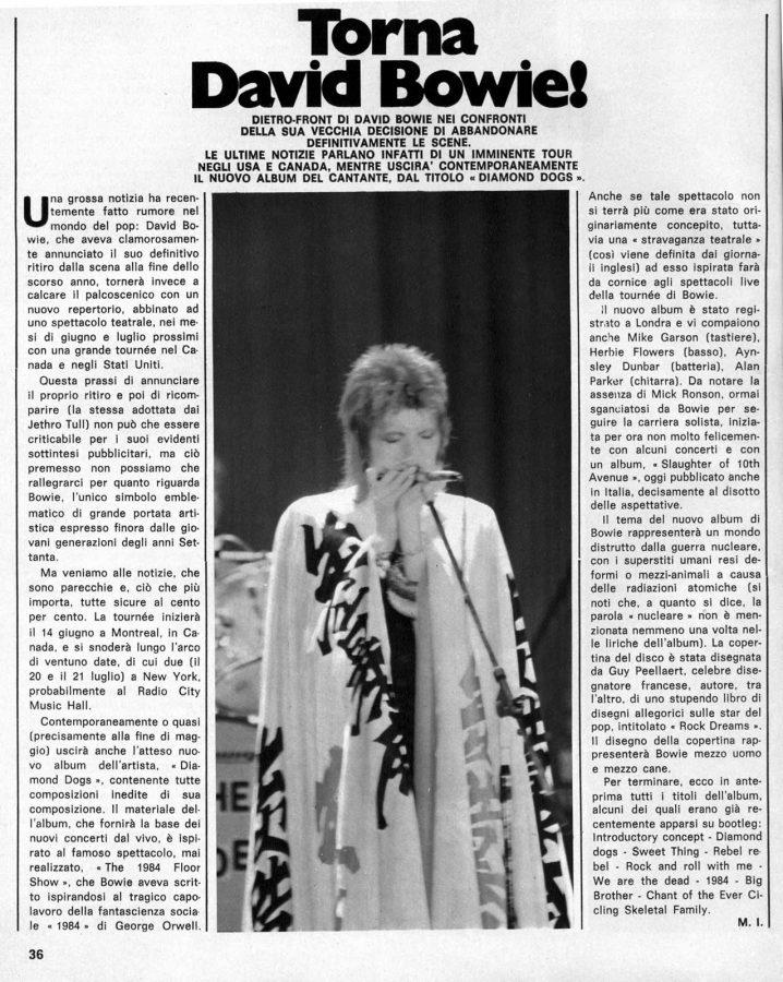 Torna David Bowie