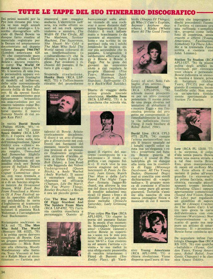 David Bowie 1977 Doppio W