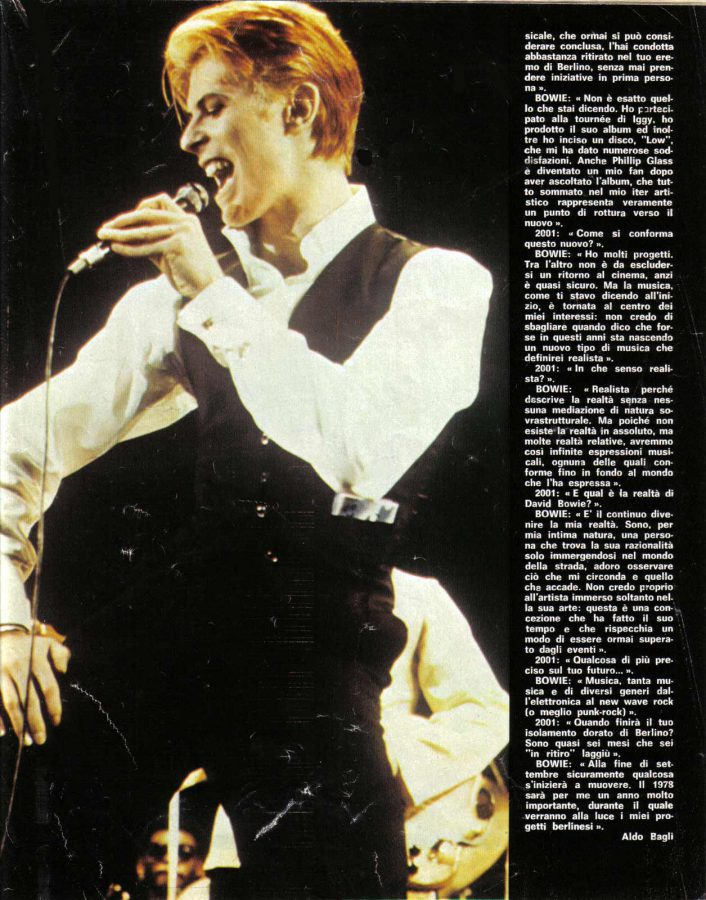 David Bowie intervista ciao2001