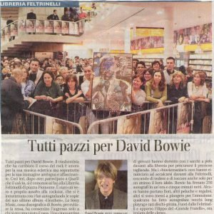 Bowie alla signing session milano 2002