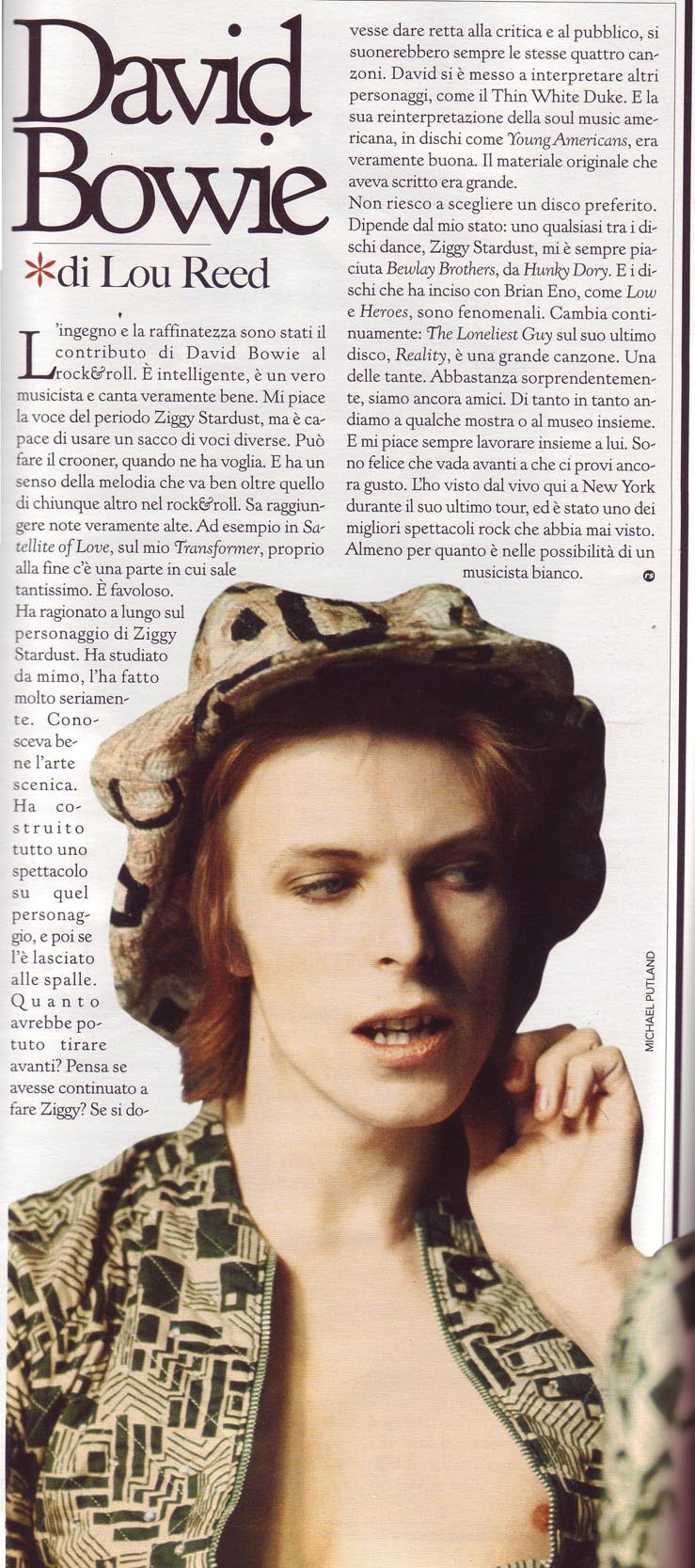 Bowie Lou Reed