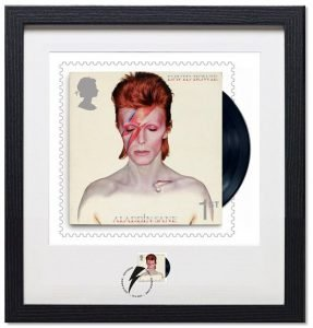 David Bowie Francobolli Aladdin Sane Framed-Print