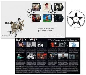 David Bowie Francobolli Edimburgh First Day Cover Stamps