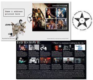 David Bowie Francobolli First Day Cover Sheet Stamps
