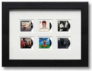 David Bowie Francobolli Framed-Stamps