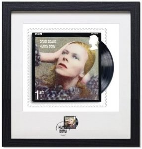 David Bowie Francobolli Hunky Dory Framed-Print