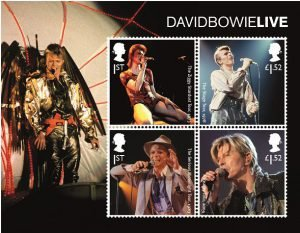 David Bowie Francobolli Live Set Stamps