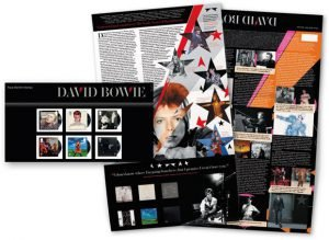 David Bowie Francobolli Presentation Pack Stamps