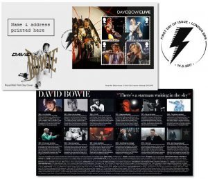 David Bowie London First Day Cover Stamps Sheet
