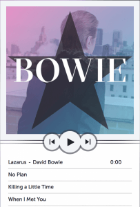David Bowie No Plan video EP