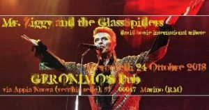 Mr. Ziggy & the Glassspiders Geronimo Bowie appuntamenti ottobre 2018