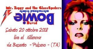 Mr. Ziggy & the Glassspiders Pulsano Bowie appuntamenti ottobre 2018