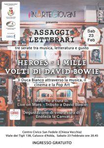 Assaggi Letterari Bowie appuntamenti febbraio 2019