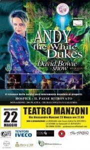 Andy White Dukes Monza Bowie Appuntamenti maggio 2019