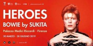 locandina Live Mostra Bowie Sukita Firenze