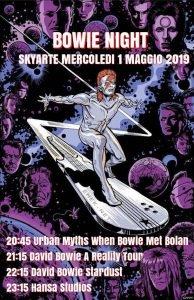 Sky Arte 1 maggio Bowie appuntamenti maggio 2019